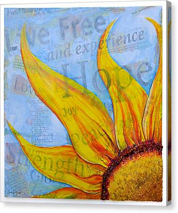 Live Free Canvas Print by Lisa Fiedler Jaworski