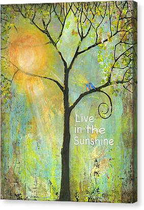 Live In The Sunshine Canvas Print by Blenda Studio
