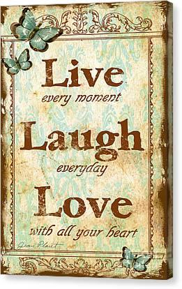 Live-laugh-love Canvas Print