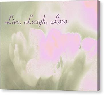 Live Laugh Love  Canvas Print by Penny Hunt