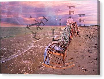 Beach Chair Canvas Print - Live Life by Betsy Knapp