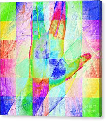 Live Long And Prosper 20150302v1 Color Squares Sq Canvas Print by Wingsdomain Art and Photography