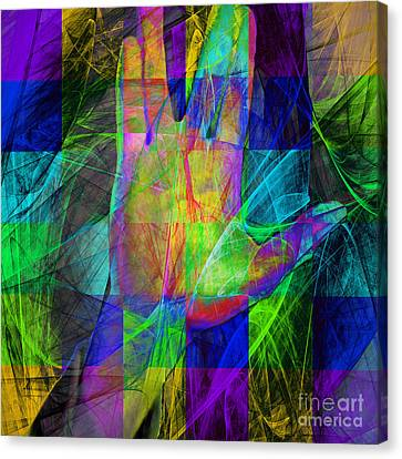 Live Long And Prosper 20150302v2 Color Squares Sq Canvas Print by Wingsdomain Art and Photography