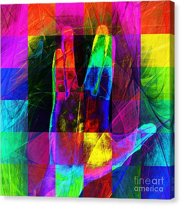 Live Long And Prosper Spock 20150302v3 Color Squares Sq Canvas Print by Wingsdomain Art and Photography