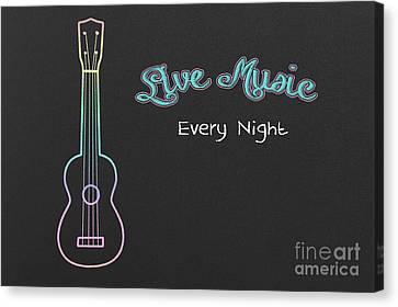 Live Music Canvas Print by Bahadir Yeniceri