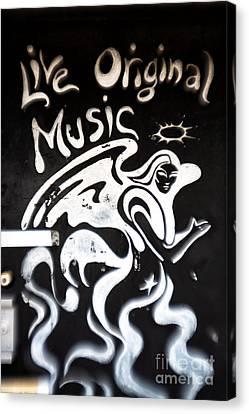 Live Original Music Canvas Print by John Rizzuto