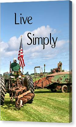 Tractors Canvas Print - Live Simply Tractor by Heather Allen