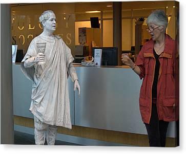 Live Statue 5 Canvas Print