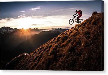 Downhill Canvas Print - Live The Adventure by Sandi Bertoncelj