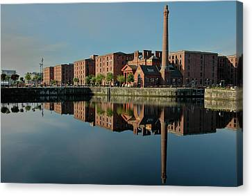 Liverpool Canning Docks Canvas Print by Jonah  Anderson