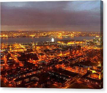 Liverpool Wheel And River Mersey Canvas Print