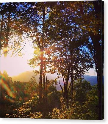 Livin A Mountain Morning Canvas Print