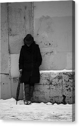 Living Hard Softly  Canvas Print by Empty Wall
