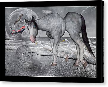 Living In A Pinched World Canvas Print by Betsy Knapp