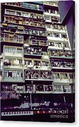 Living In Hong Kong Canvas Print by Scott Shaw