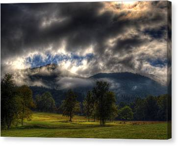 Living In The Clouds Of Western North Carolina Canvas Print by Greg and Chrystal Mimbs