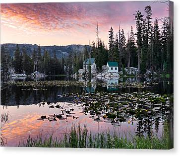 Old Cabins Canvas Print - Living In The Woods by Leland D Howard