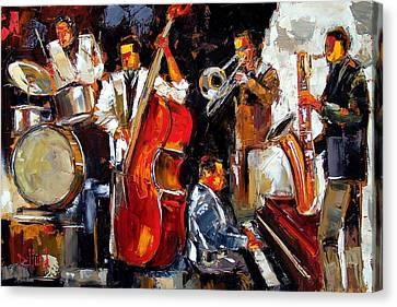 Drums Canvas Print - Living Jazz by Debra Hurd