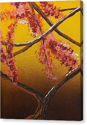 Burnt Umber Canvas Print - Living Loving Tree Bottom Center by Darren Robinson
