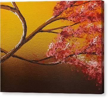 Burnt Umber Canvas Print - Living Loving Tree Bottom Right by Darren Robinson