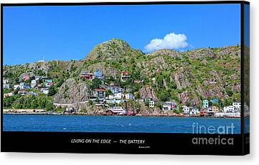 Living On The Edge -- The Battery - St. John's Nl Canvas Print by Barbara Griffin