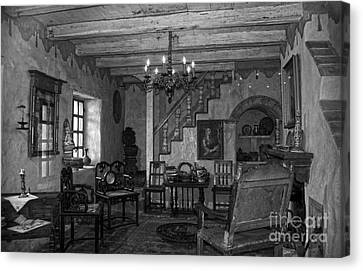 Living Room In Carmel Mission Canvas Print by RicardMN Photography