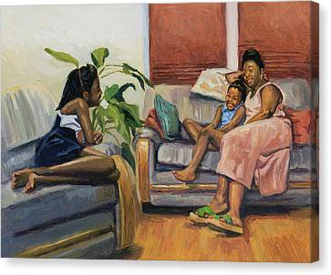 Living Room Lounge Canvas Print by Colin Bootman