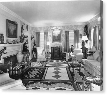 Living Room Of J. Edgar Hoovers Living Canvas Print by Everett