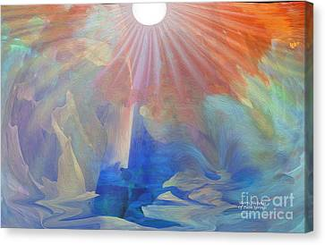 Living Under The Umbrella Of Light Canvas Print by Sherri's Of Palm Springs