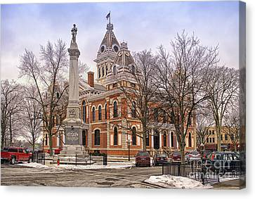 Livingston County Courthouse 06 Pontiac Il Canvas Print by Thomas Woolworth