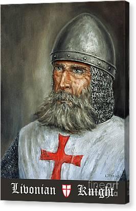 Knight Templar Canvas Print by Arturas Slapsys