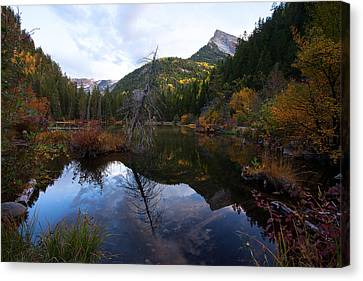 Canvas Print featuring the photograph Lizard Lake by Jim Garrison