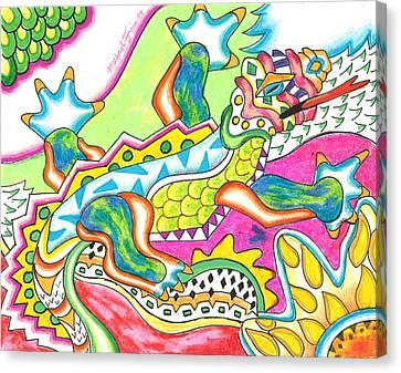 Michael Canvas Print - Ioli - Lizard by Michael Andrew Frain