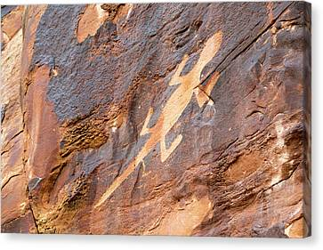Lizard Petroglyph On Sandstone Canvas Print by Jim West