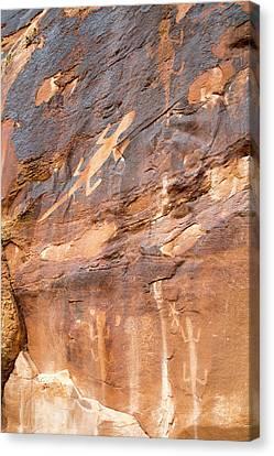 Lizard Petroglyphs On Sandstone Canvas Print by Jim West