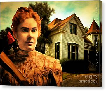 Lizzie Borden Took An Ax 20141226 With Text Canvas Print by Wingsdomain Art and Photography