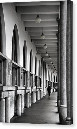 Canvas Print featuring the photograph Ljubljana Archway by Graham Hawcroft pixsellpix