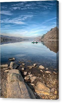 Llanberis Lake Canvas Print by Adrian Evans