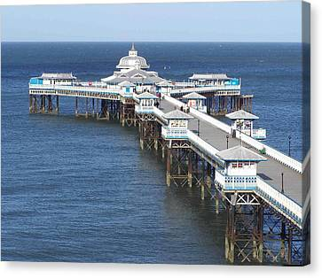 Canvas Print featuring the photograph Llandudno Pier by Christopher Rowlands