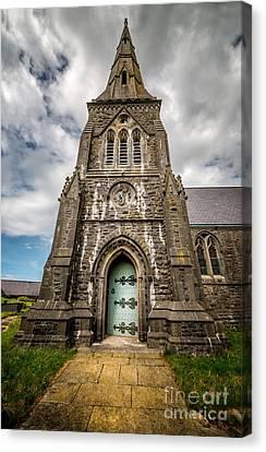 Llandwrog Church  Canvas Print by Adrian Evans
