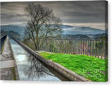 Llangollen Canal  Canvas Print by Adrian Evans