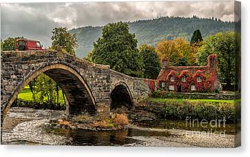 Llanrwst Cottage Canvas Print by Adrian Evans