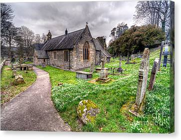 Llantysilio Church Canvas Print by Adrian Evans