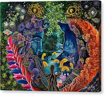 Plants Canvas Print - Llullon Llaki Supai by Pablo Amaringo