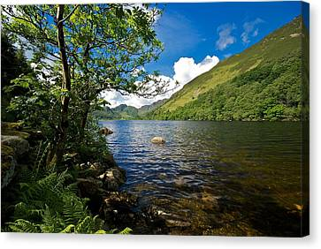 Canvas Print featuring the photograph Llyn Crafnant by Stephen Taylor
