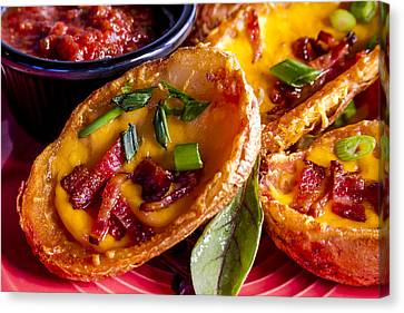 Loaded Potato Skins Canvas Print by Teri Virbickis