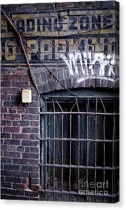 Loading Zone No Parking Canvas Print by Amy Cicconi