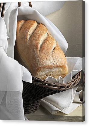 Canvas Print featuring the photograph Loaf Of Bread by Krasimir Tolev