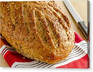 Loaf Of Whole Grains And Seeded Bread Canvas Print