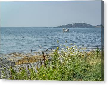 Canvas Print featuring the photograph Lobster Boat At Rest by Jane Luxton
